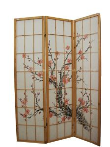 Hand Painted Solid Wood Screen (SJ-8109)