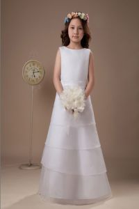 Brief Organza Flower Girl Dresses for Wedding (Ogt008f)