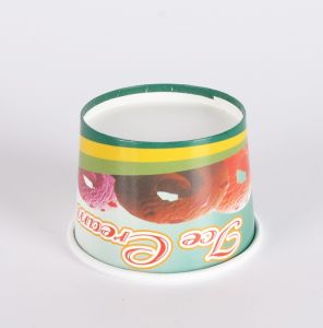 Disposable Custom 16oz Ice Cream Cup with Lid pictures & photos