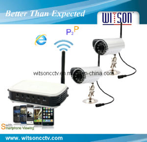 4CH Wireless Network DVR Security System with 4 PCS of Camera, Wireless Home Surveillance System pictures & photos