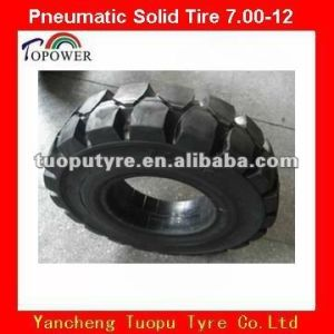 Solid Tire 7.00-12 for Forklift, Trailers, Blender Mixer