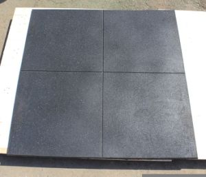 Black Inter-Locked Rubber Gym Floor Tile /Crossfit Gym Mats pictures & photos