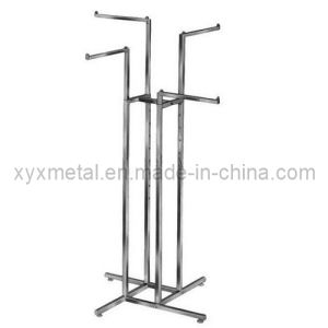 4 Way Straight Arms Tube Clothing Chrome Clothes Stand pictures & photos
