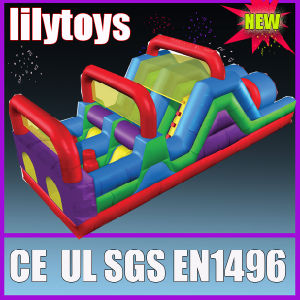 Challenging Inflatable Obstacle Course for Kids
