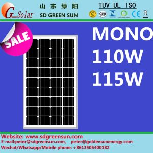 18V 110W-115W Mono Solar Module for Solar Power System (2017) pictures & photos