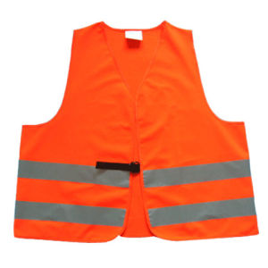 Polyester High Visibility Reflective Warning Vest with ISO20471 pictures & photos