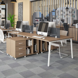 Office Wooden Desk Workstation with Front Screen Partition pictures & photos