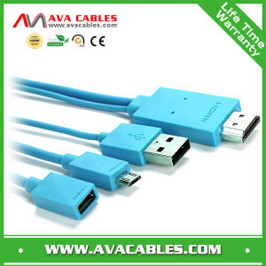 Mhl for iPhone (MHL Cable HDMI to Mirco USB for Samsung Galaxy S2 S3 S4 &Galaxy Tab 2)