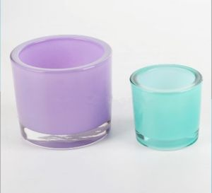 Wedding Gift Thick Wall Glass Votive Candle Holder/Candle Jar
