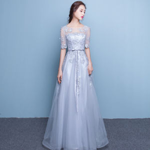Pink Long Wedding Gown Floor Length Bridal Dress Lady Evening Dress pictures & photos