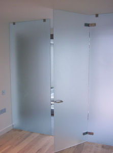 Tempered Frosted Glass Bathroom Door pictures & photos
