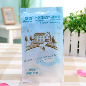 Disposable Plastic Waterproof Toilet Seat Cover for Traveling and Hotel pictures & photos