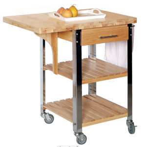 Wooden Kitchen Trolley W/ Butcher Chop Top (HX1-3116)