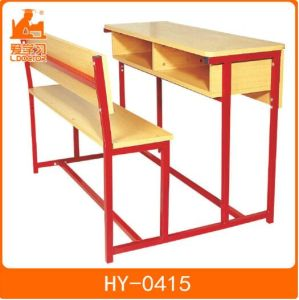 School Wooden Desk with Attched Chair of Student Furniture pictures & photos