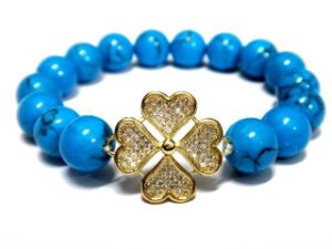2013 Fashion Jewelry Turquoise Beads (copper micro inlay zircon) New Boutique Bracelet