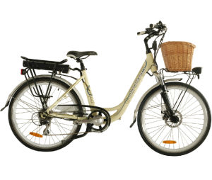 Beautiful City Electric Bike with Beautiful Rattan Basket (JB-TDF11Z) pictures & photos