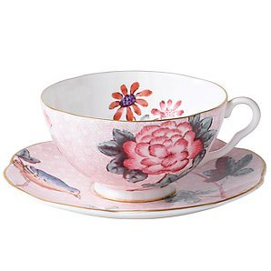 Tea Cup and Saucer (Pink Flower)