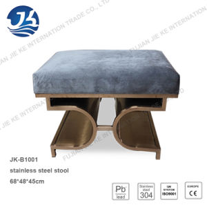 Stainless Steel Stool with High Elasticity Spongy Cushion pictures & photos