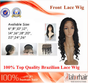 "Brazilian Virgin Hair Front Lace Wigs (12"" Inch-Deep wave) pictures & photos"