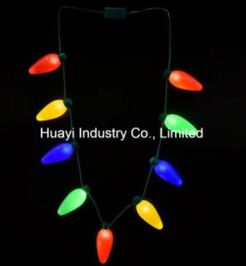 Christmas Holiday Big Bulbs Blinking Necklaces pictures & photos