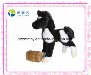 Plush Runner Black Horse Toy (XMD-0070C) pictures & photos