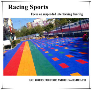 Multi-Sport Court Interlocking Suspended Outdoor Flooring