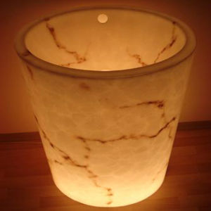 Translucent Stone Washing Basin Artificial Stone pictures & photos