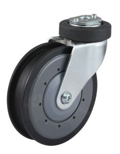 Shopping Trolley Caster Fixed PU Wheel pictures & photos