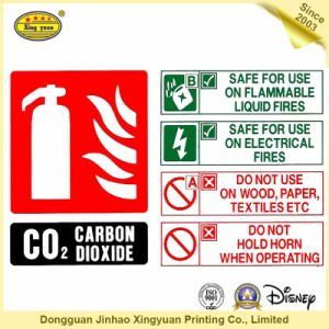 Fire Extinguisher Sensitive Adhesive Sticker pictures & photos