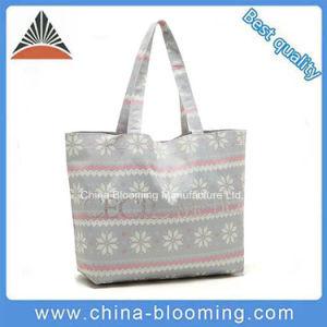 Fashion Leisure Girls Shoulder Canvas Shopper Bag pictures & photos