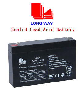 6V7ah/20hr Sealed Rechargeable Lead-Acid Battery