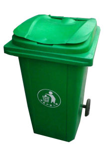 240L Plastic Outdoor Dustbin with Pulley Bottom pictures & photos