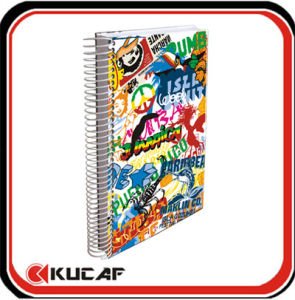 Spiral Notebook with Colored Paper pictures & photos