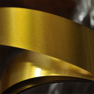 Prime Mr Grade 0.22mm Thickness Golden Lacquered Tinplate Coil pictures & photos