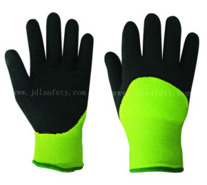 Foam Latex Work Glove of 3/4 Coateing for Keeping Warm (LY2039F) pictures & photos