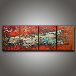 Modern Canvas Art Textured Oil Painting for Wall Decoration (KLMA4-0010)