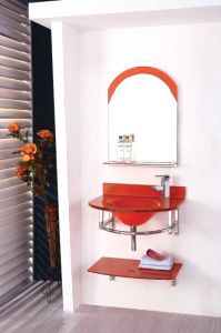Glass Basin Vanity Sanitaryware (W-030)