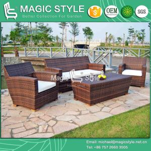 Patio Rattan Sofa Set with Teak Outdoor Wicker Sofa Set Modern Garden Sofa Set (Magic style) pictures & photos