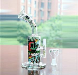 Colorful Tags Glass Water Pipes Oil Rigs 11′′ Hookahs with Bowl