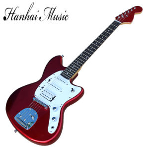 Hanhai Music / Metallic Red Electric Guitar with White Pickguard pictures & photos