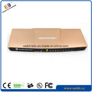 Desktop 4 Port HDMI Kvm Switch with Aluminum Housing pictures & photos