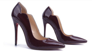 Fashion Style Burgundy High Heel Women Shoes (HS17-064) pictures & photos