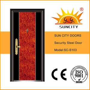 Low Price China Steel Security Doors (SC-S103) pictures & photos