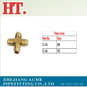 Forged Brass Flare Cross Fitting pictures & photos