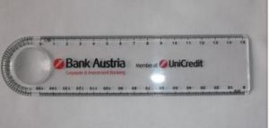 Company Bank Austria Unicredit Ruler as Gift