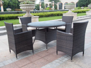 Rattan Furniture Garden Modern Patio Hotel Dining Round Table Chair