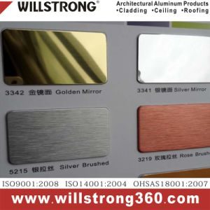 Willstrong Aluminum Composite Panel Anodized Mirror Finish pictures & photos