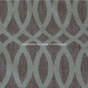 100% Polyester Jacquard Linen Touching Window Curtain pictures & photos