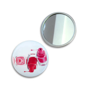 58mm Mirror 4c Printing Hand Made Promotional Gifts Travel Mirror pictures & photos