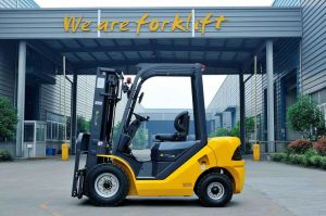 Diesel Forklift in Yellow Color pictures & photos